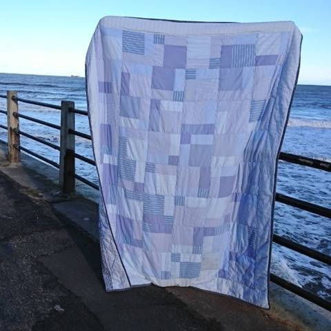 Single-bed quilt PDF pattern recycling project PINSTRIPE