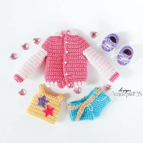 Crochet clothes for Doll Naomi