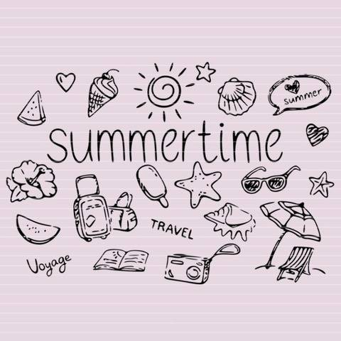 "Cutting file ""summertime"" for Ironing-picture SVG DXF"