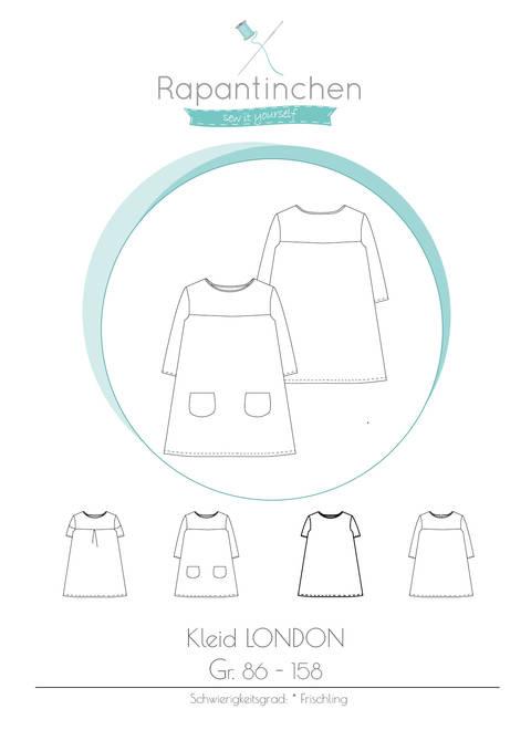A-Linien-Kleid LONDON mit Nähanleitung und Schnitt