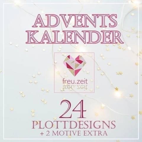 Adventskalender 2020 -  24 Plottdesigns + 2 Extra-Motive