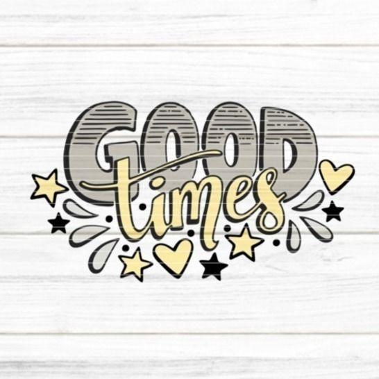 """Cutting file """"good times"""" for Ironing-picture SVG DXF at Makerist - Image 1"""
