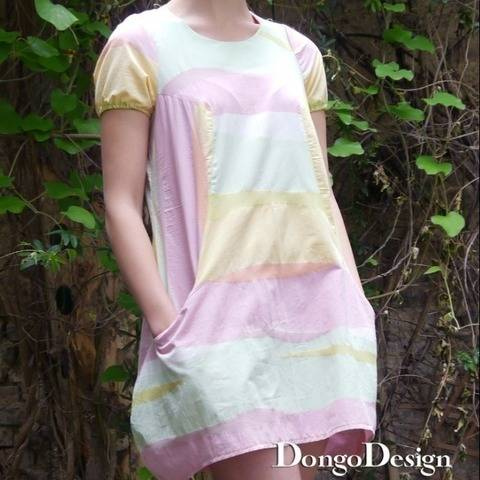 PDF sewing pattern Ebook Dress Korfu with instructions