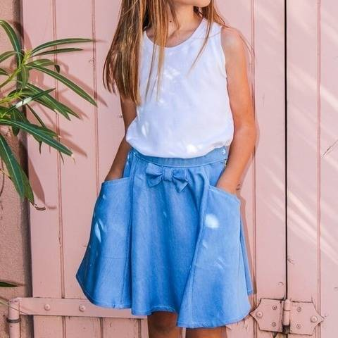 Cindy Mini - skirt sewing pattern for kids