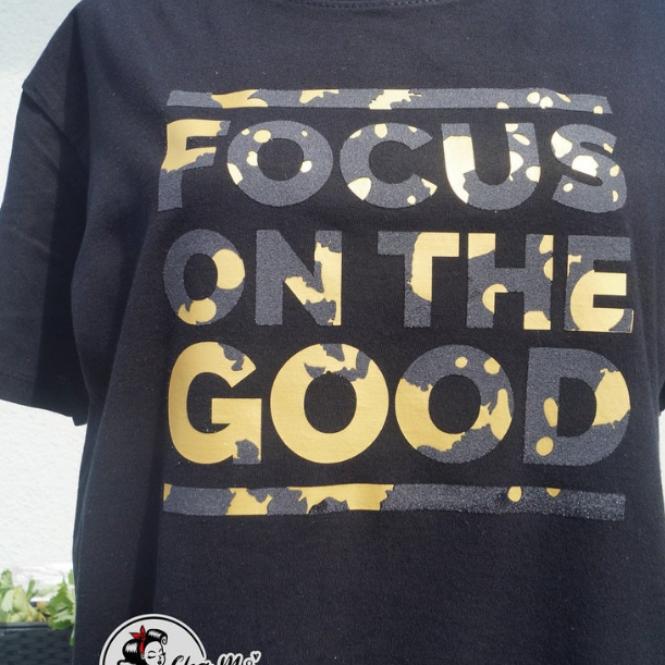 Klecks Sprüche - Focus on the Good - Dein Style!