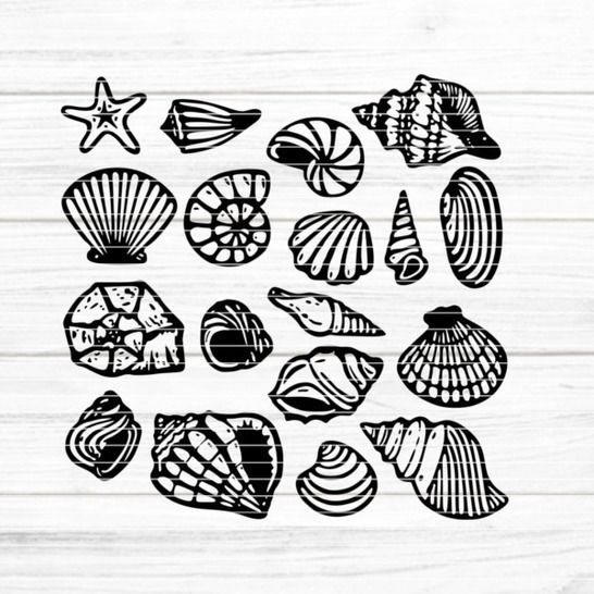 """Cutting file """"shells"""" for Ironing-picture SVG DXF at Makerist - Image 1"""