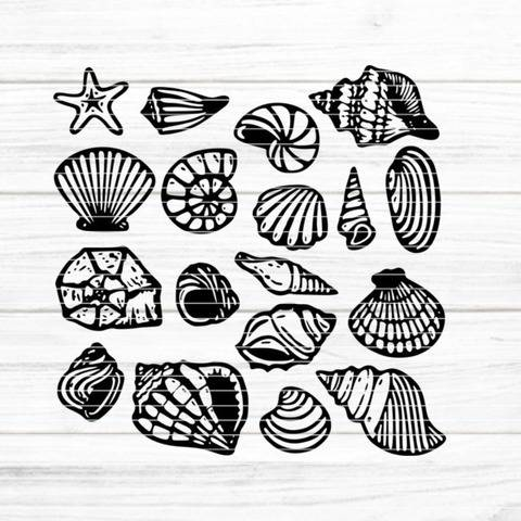 "Cutting file ""shells"" for Ironing-picture SVG DXF"