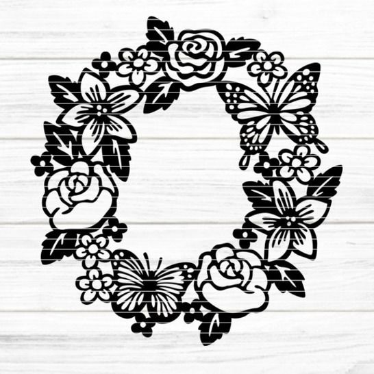"""Cutting file """"flowerwreath"""" for Ironing-picture SVG DXF at Makerist - Image 1"""