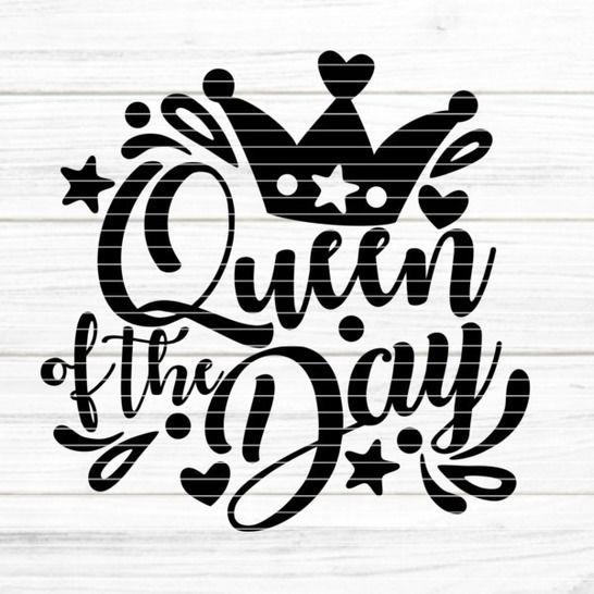 "Cutting file ""Queen of the Day"" for Ironing-picture SVG DXF at Makerist - Image 1"