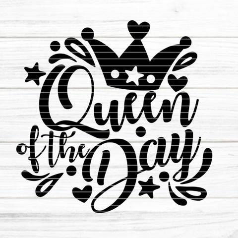 "Cutting file ""Queen of the Day"" for Ironing-picture SVG DXF"