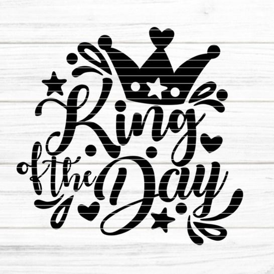 "File ""King of the Day"" Ironing-picture SVG DXF at Makerist - Image 1"