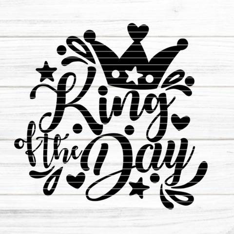 "File ""King of the Day"" Ironing-picture SVG DXF"