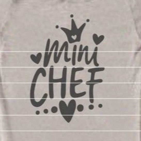 """Cutting File """"Mini Chef"""" Ironing-picture SVG DXF at Makerist - Image 1"""