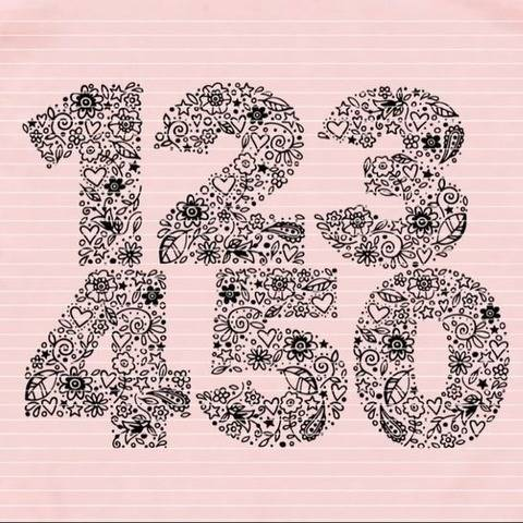 "Cutting File ""Numbers 1-5"" Ironing-picture SVG DXF"