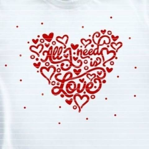 "Cutting File ""all i need is love"" Ironing-picture SVG DXF"