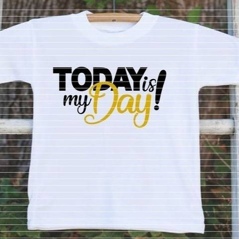 "Cutting File ""Today is my Day"" Ironing-picture SVG DXF"