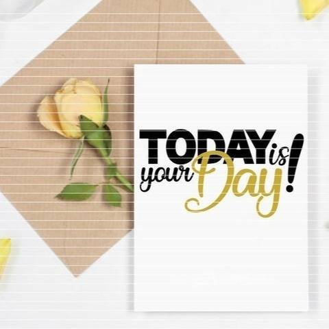"Cutting File ""Today is your Day"" Ironing-picture SVG DXF"