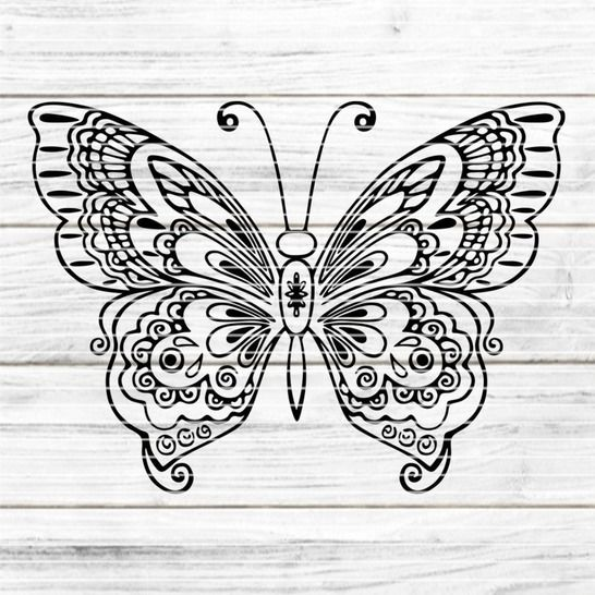Cutting file butterfly for Ironing-picture SVG DXF at Makerist - Image 1