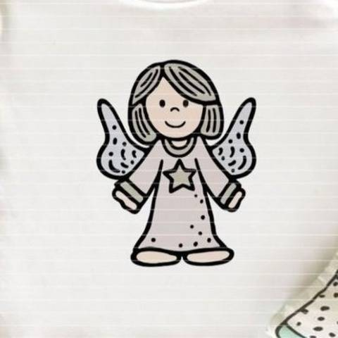 Cutting file guardian angel for Ironing-picture SVG DXF