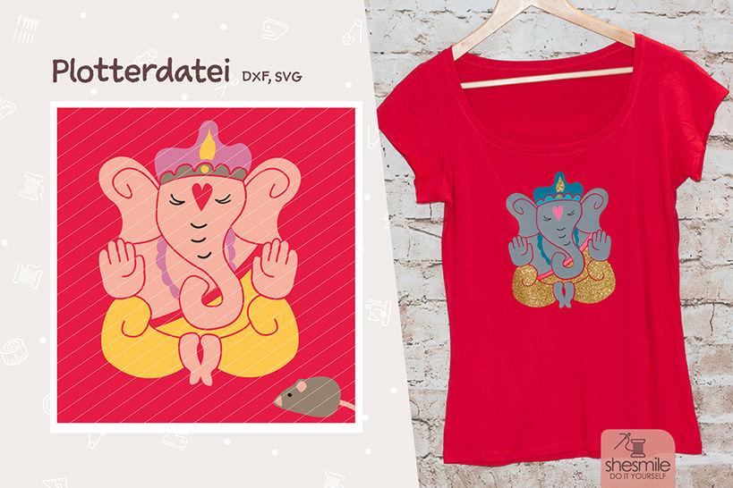 Ganesha (Plotterdatei / Illustration) bei Makerist - Bild 1