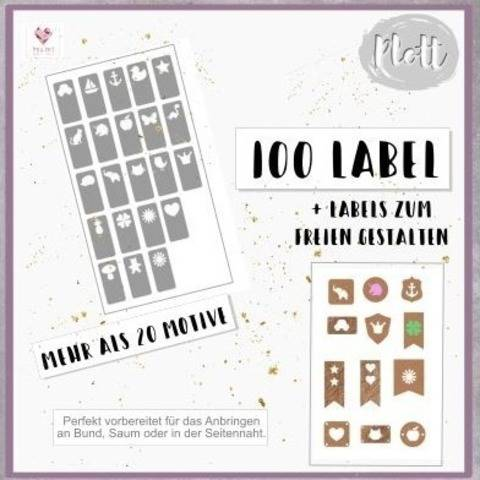 Plottdesign - Label Love StarterSet - 100 Labeldesigns