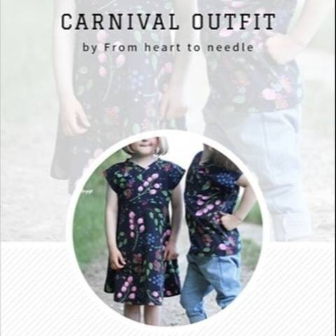 Carnival Outfit Kombi Ebook (5 Schnittmuster)