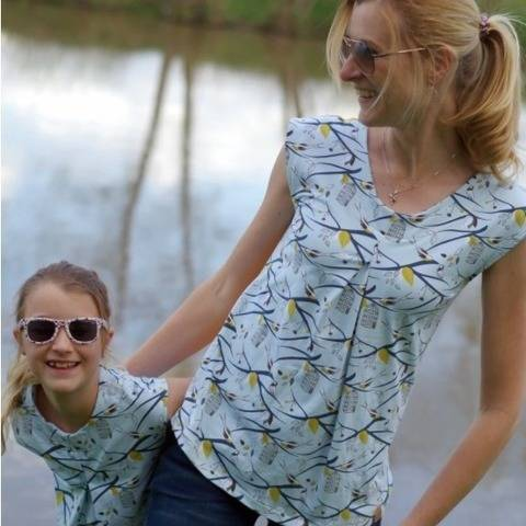 SunnyMe Woman & Girls - Pattern Summer Shirt