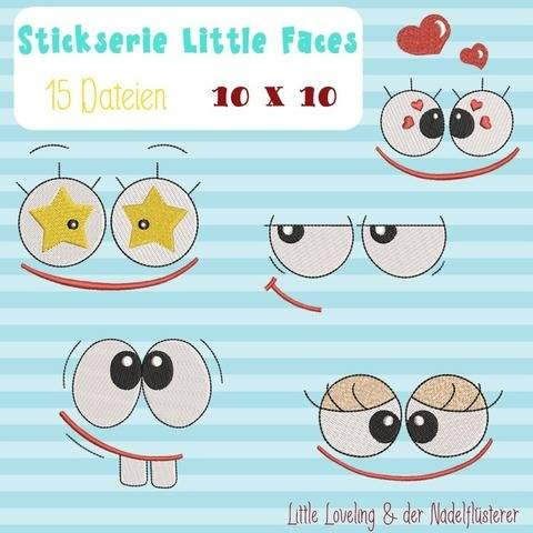Digitale Stickserie Little Faces 10x10
