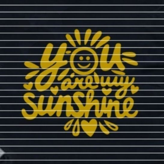 Cutting file sunshine for Ironing-picture SVG DXF at Makerist - Image 1