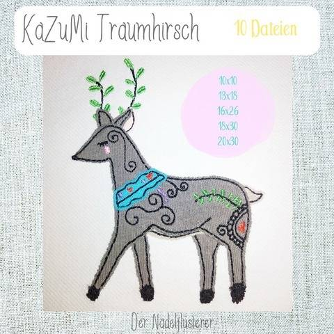 Digitale Stickdatei KaZuMi Traumhirsch 10x10 - 20x30