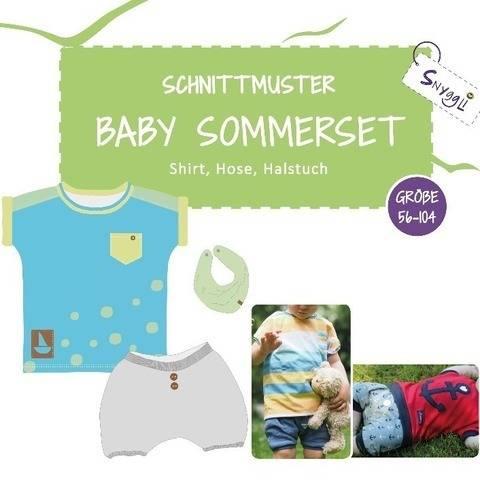 Baby Sommerset mit Shirt, Hose, Halstuch Gr. 56-104