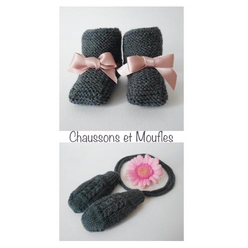 Chaussons et moufles - Tutoriel tricot