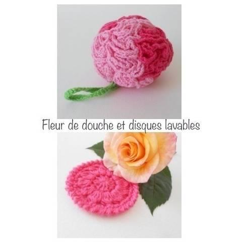 Fleur de douche et disques lavables