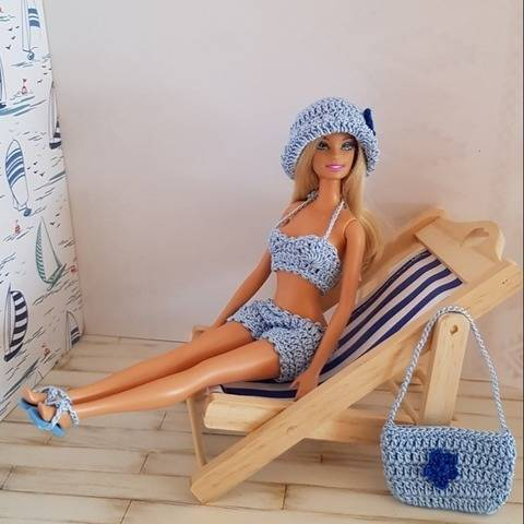 """Lagoon"" crochet pattern for Barbie"