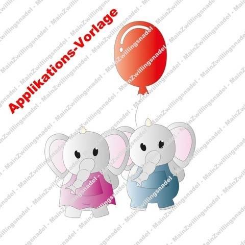Main(e) Elefanten Elli & Fanti - Applikationsvorlage