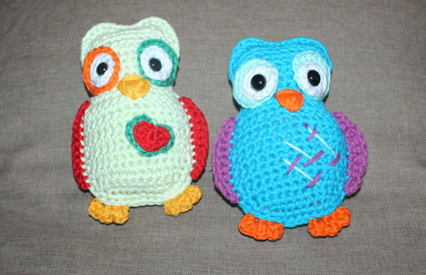 coloured owls crochet pattern bei Makerist - Bild 1