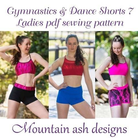 Gymnastics Dance Shorts 7 Womens High Waisted Yoga Shorts at Makerist