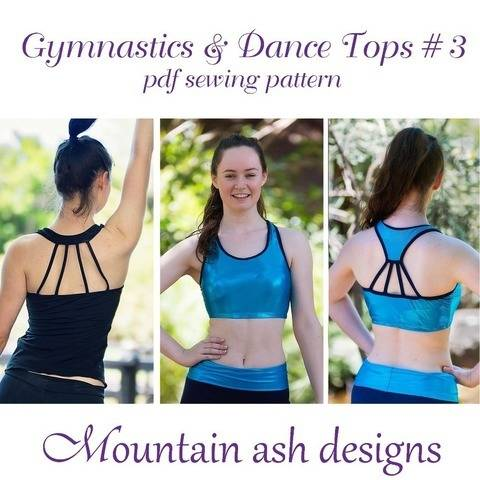 Gymnastics Dance Tops 3 Womens Sizes Sewing Pattern at Makerist