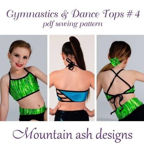 Gymnastics Dance Tops 4 Girls Sizes Sewing Pattern at Makerist