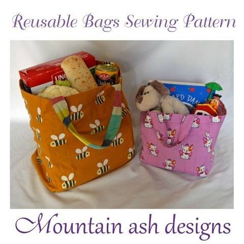 Reusable Eco Shopping Bags PDF Sewing Pattern