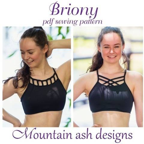 Briony Gym Dance Crop Top Womens Sewing Pattern