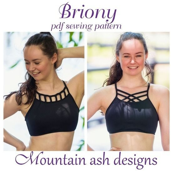 Briony Gym Dance Crop Top Girls Sewing Pattern at Makerist - Image 1