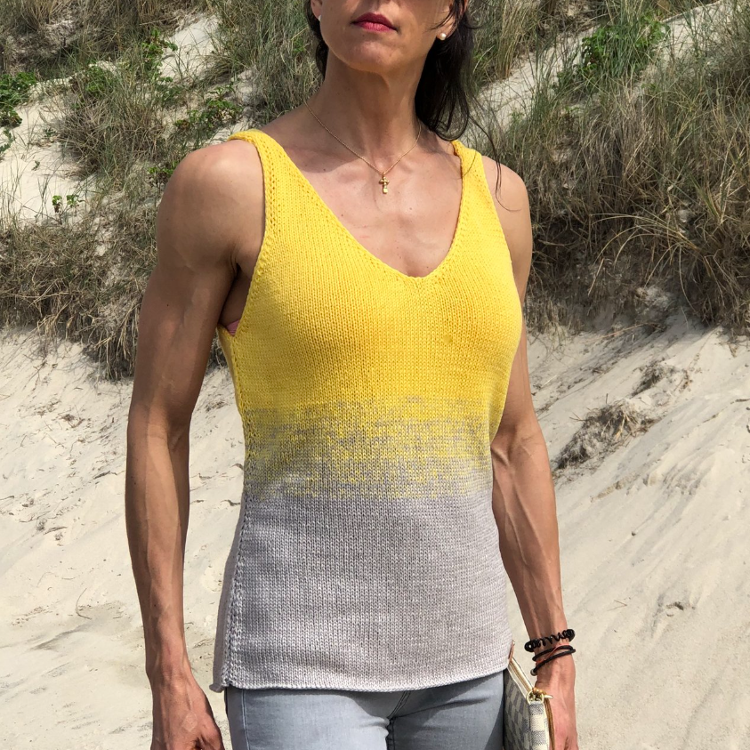 Knitting Pattern - Gradient Color Tank-Top - No.219E
