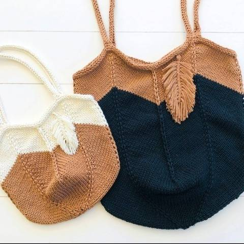 Knitting Pattern - Shopping Bag ZOE & ZOELLA - No.223E