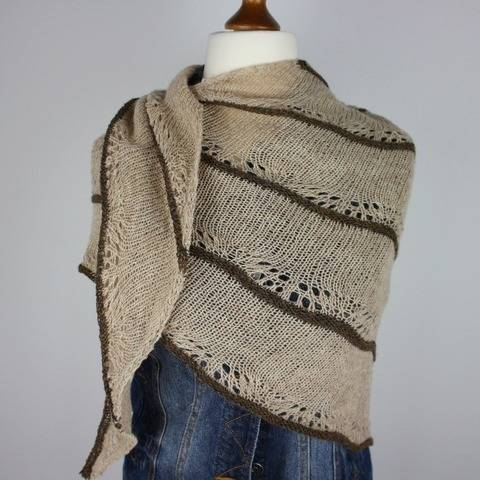 "Knitting pattern shawl ""Nature"""