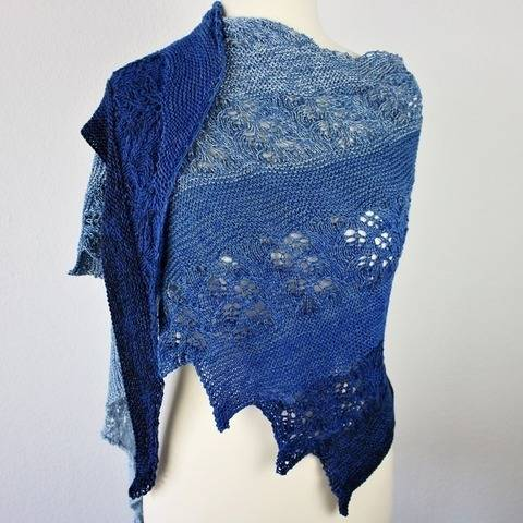 Knitting pattern shawl ZOZA