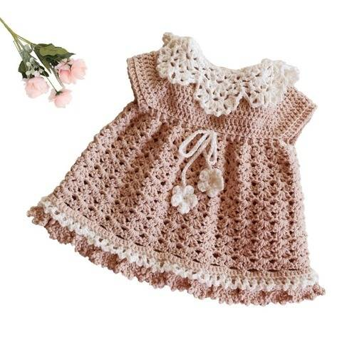 Little Angel Baby Crochet Dress
