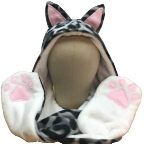 Animal Hooded Scarf PDF Sewing Pattern - Child - Adult