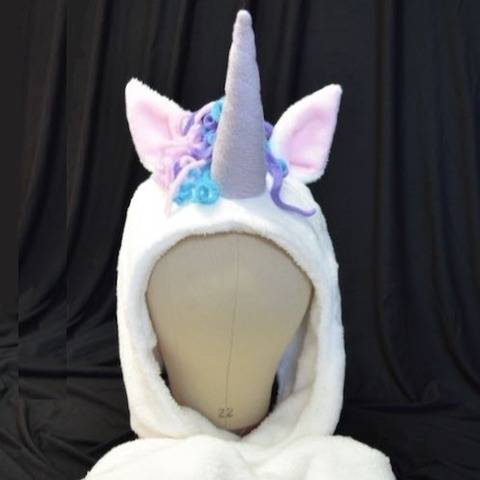 Unicorn/ Dinosaur Hooded Scarf - Child - Adult