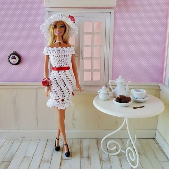 """Romantic"" crochet pattern for Barbie at Makerist - Image 1"